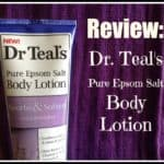 Dr. Teal's Pure Epsom Salt Body Lotion Review