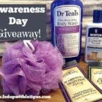 Awareness Day Giveaway: Achy body bath set