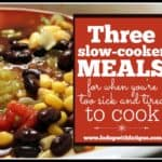 Three slow-cooker meals for when you're too sick and tired to cook