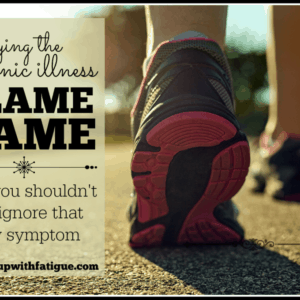 """We often blame all of our symptoms on """"just fibro,"""" but it's not a good thing to do that, as I recently learned."""