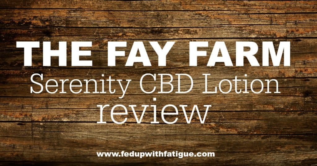 The Fay Farm Serenity CBD Lotion contains magnesium, essential oils and other natural ingredients to calm anxiety and ease pain.