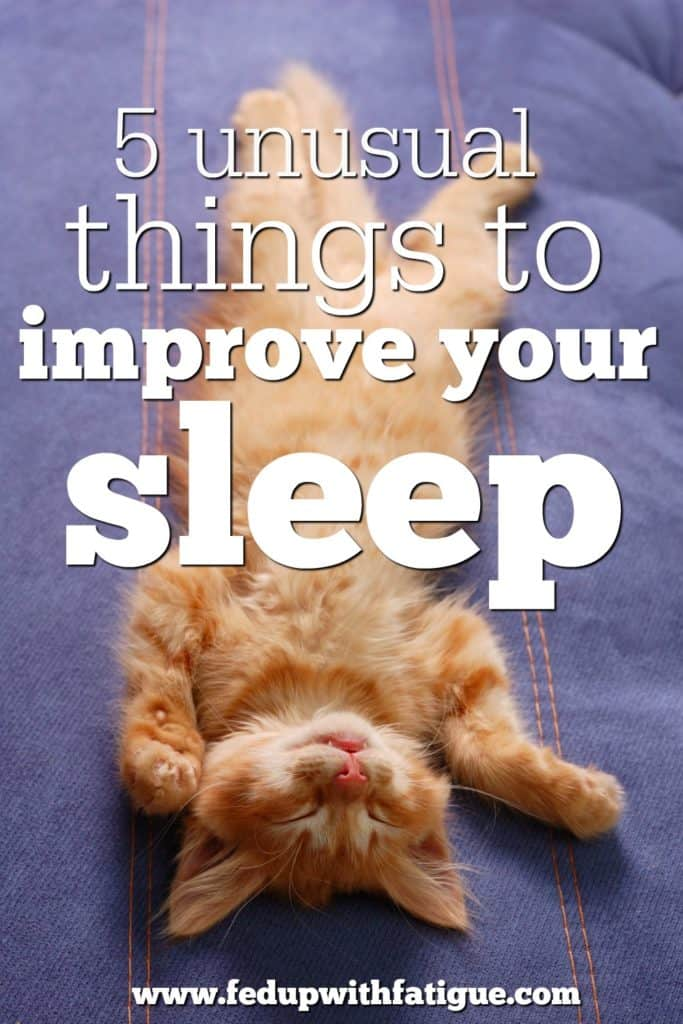 Struggling to sleep? Read about five unusual things to improve sleep!