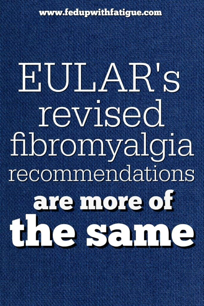 The European League Against Rheumatism has released revised recommendations for fibromyalgia treatment. Exercise is their top therapy of choice.