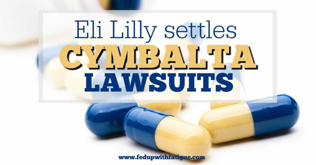 Eli Lilly settles Cymbalta withdrawal lawsuits