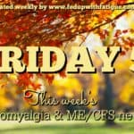 Friday 5: Nov. 4, 2016 fibromyalgia and ME/CFS news