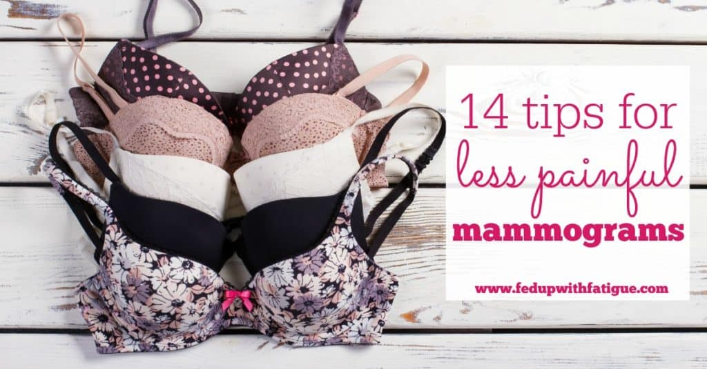 Mammograms can be uncomfortable - especially if you have fibromyalgia or another chronic pain condition. Check out these tips for reducing the discomfort of mammography!