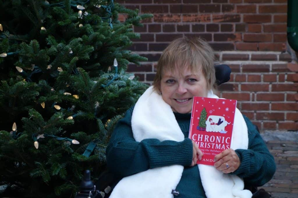 "Chronic illness warrior and author Lene Andersen's book ""Chronic Christmas"" is ""an Advent calendar full of self-care tips to help people with chronic illness savor the holiday season as never before."""