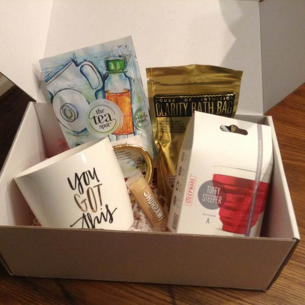 """The ChronicAlly Box """"contains lavish and necessary products for the chronically chic woman's life. Every month, you can expect a treasure box full of 3-6 full-sized health and beauty products to make your beauty routine possible in a pinch, with little effort,"""""""