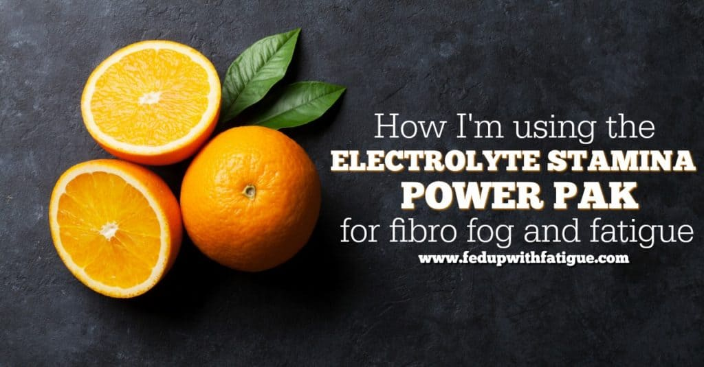 Using the Electrolyte Stamina Power Pak for fibro fog and fatigue