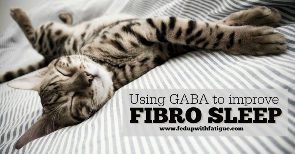 Using GABA to improve sleep with fibromyalgia