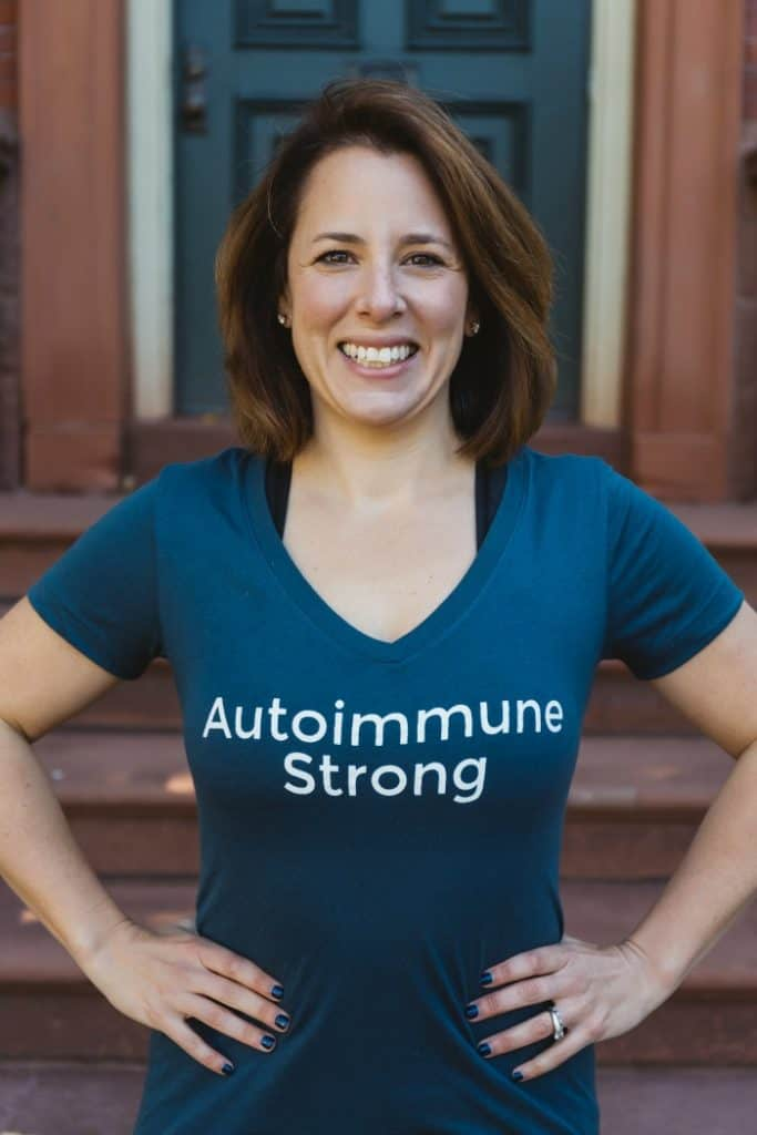 Autoimmune Strong is an online strength-training fitness program specifically designed for people struggling with chronic pain. It was created by Andrea Wool who has fibromyalgia, Hashimoto's thyroiditis and celiac.