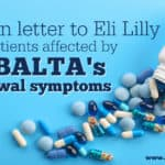 An open letter to Eli Lilly and all patients affected by Cymbalta's withdrawal symptoms