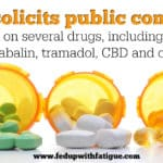 FDA solicits public comment on several drugs, including pregabalin, tramadol, CBD and others
