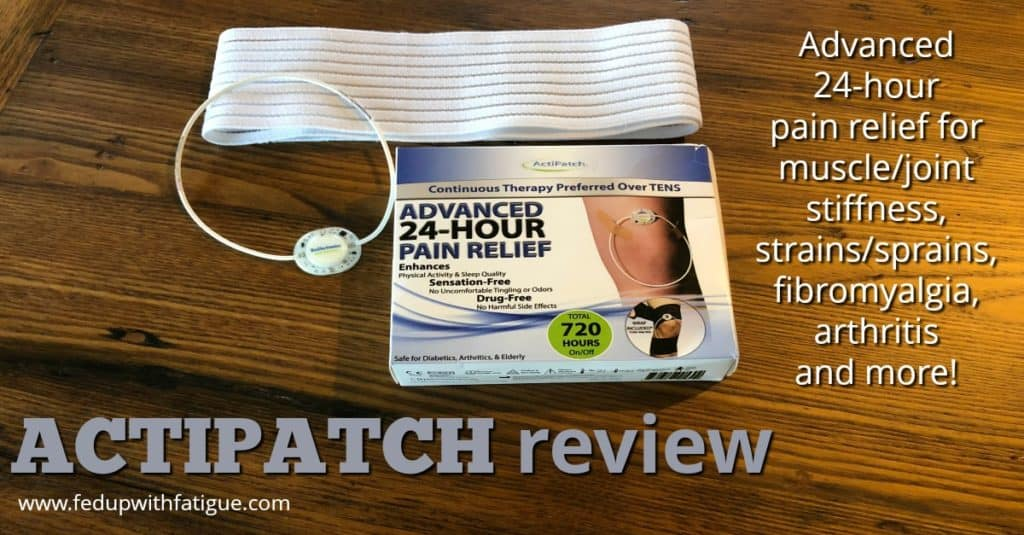 ActiPatch review | Advanced 24-hour pain relief for muscle/joint soreness, strains/sprains, #fibromyalgia, #arthritis and more!