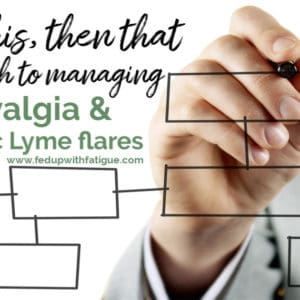 The if this, then that approach to managing #fibromyalgia & chronic #Lyme flares | Fed Up with Fatigue
