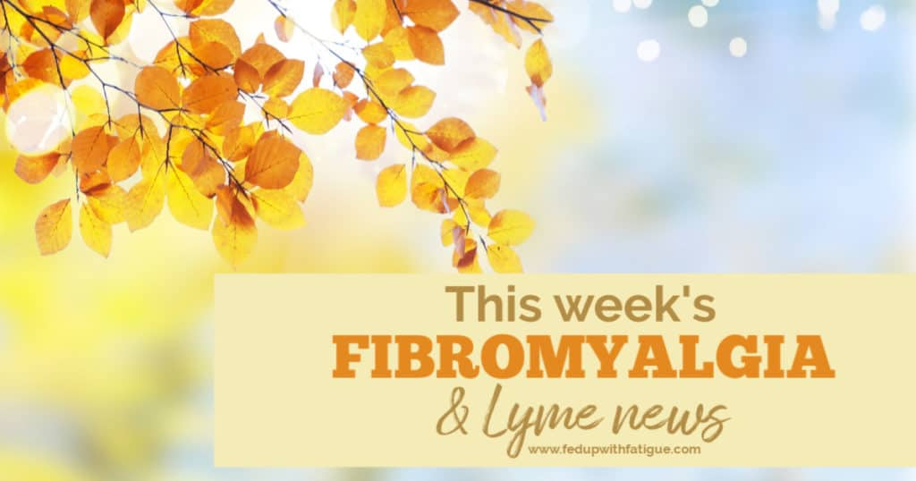 Nov. 1, 2019 #fibromyalgia & #Lyme news highlights: Results of new fibromyalgia drug trial to be presented to American College of Rheumatology; U.K. trial finds humidity and wind increase pain levels; how to show your support for the TICK Act; new nonprofit will lobby Congress for Lyme disease funding; the effectiveness of IV drips, cryotherapy, float therapy and other alternative treatments; how gut bacteria may impact incidence of opioid addiction and more! | Fed Up with Fatigue