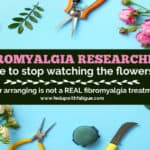 Fibromyalgia researchers, it's time to stop watching the flowers grow!