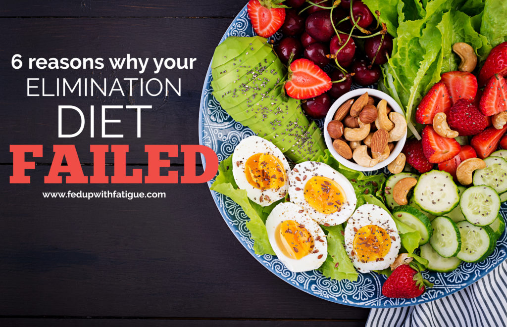 Have you unsuccessfully tried to make dietary changes to improve your #fibromyalgia and/or #Lyme symptoms? Here are 6 reasons why your elimination diet might have failed!   Fed Up with Fatigue