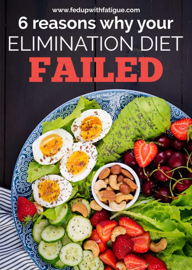 Have you unsuccessfully tried to make dietary changes to improve your #fibromyalgia and/or #Lyme symptoms? Here are 6 reasons why your elimination diet might have failed! | Fed Up with Fatigue